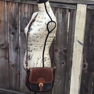 Pre-owned. Bally Basket Weave Crossbody Bag